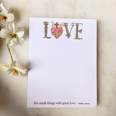 Love: Do Small Things Notepads Set of 5