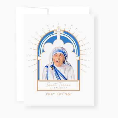 St. Teresa of Calcutta Novena Card White