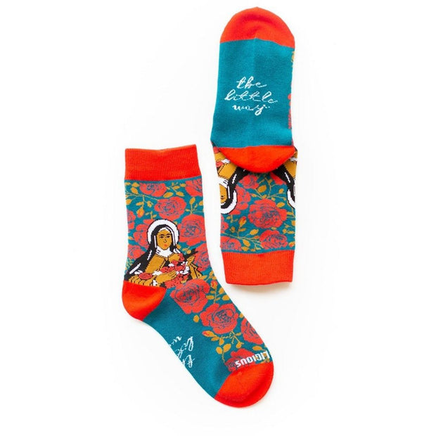 Kids St. Therese of Lisieux Socks