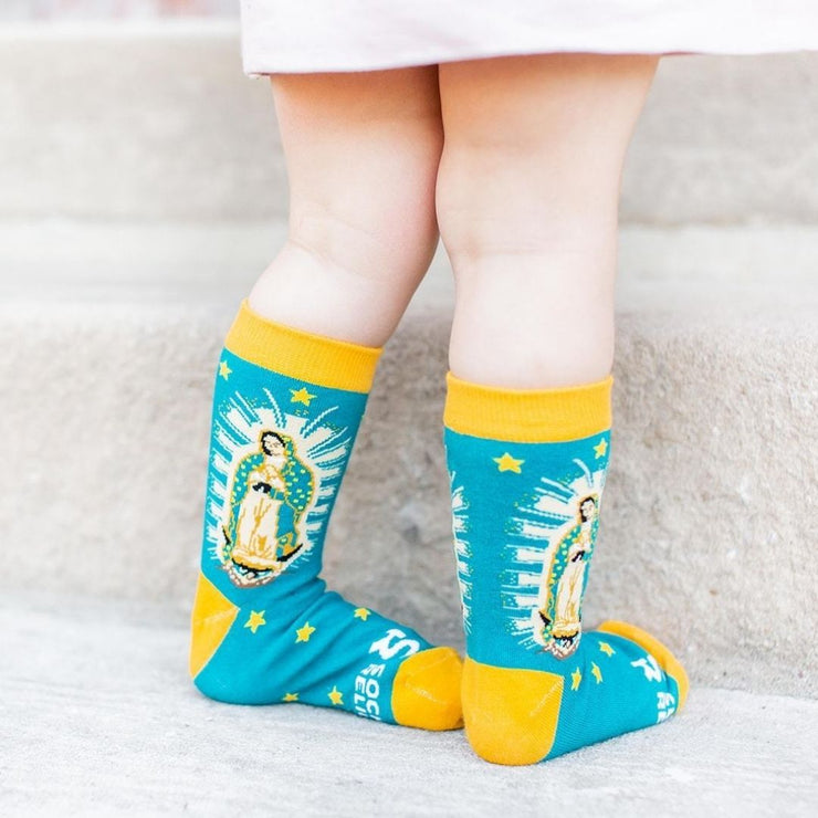 Kids Our Lady of Guadalupe Socks