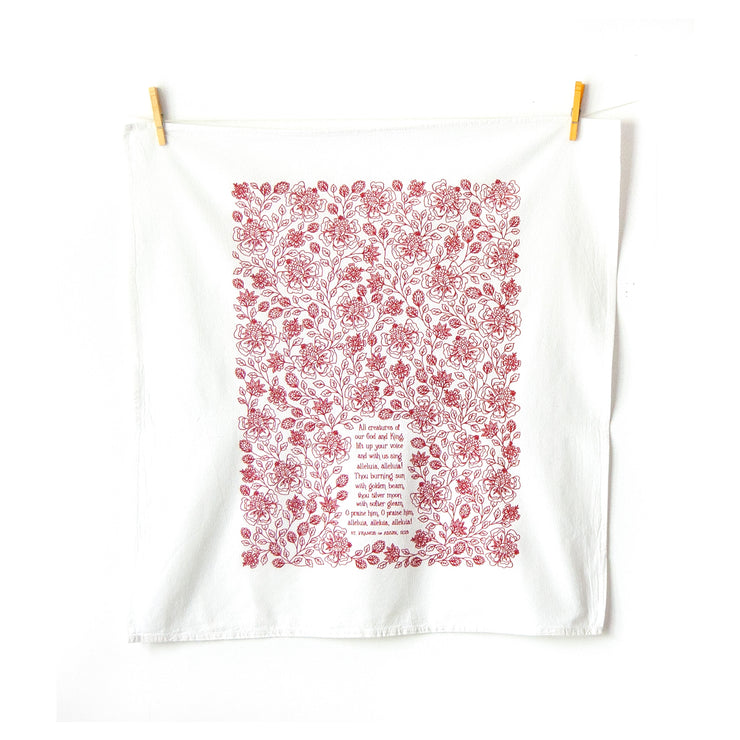 All Creatures of Our God and King Tea Towel