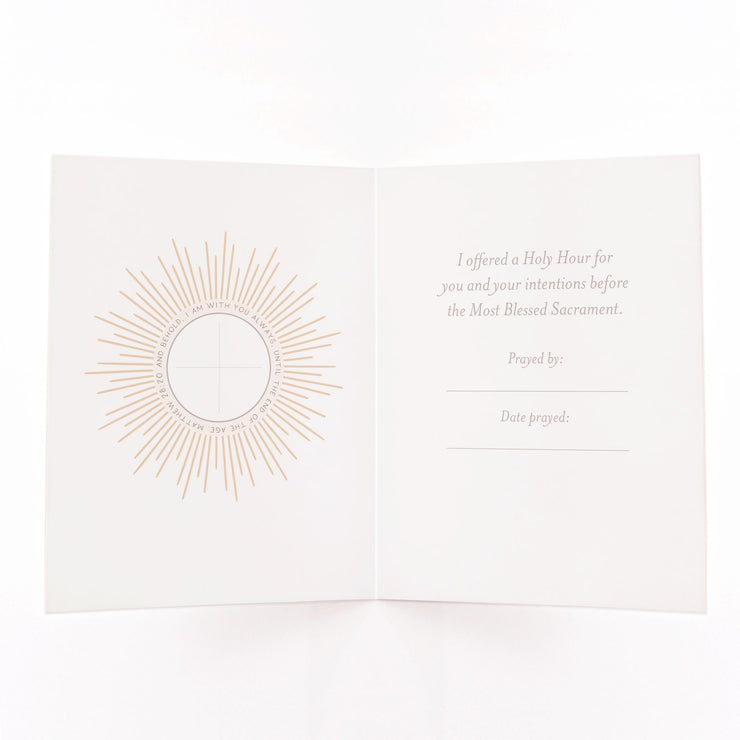 Holy Hour Card | Mint Green