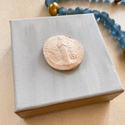 Our Lady of Beauraing on Light Blue Ombre Mini Canvas