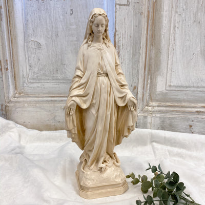 Antique French Madonna Statue