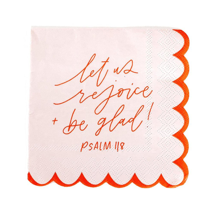 Rejoice + Be Glad Cocktail Napkin