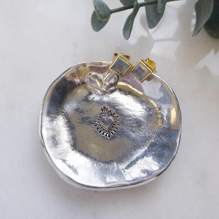 Sacred Heart Pewter Ring Dish