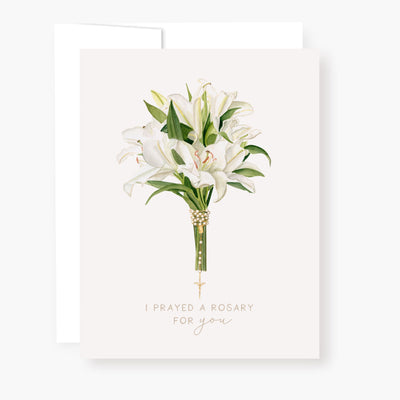 Rosary Card | Bouquet | Lilies