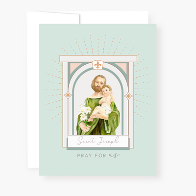 St. Joseph Novena Card | Mint Green