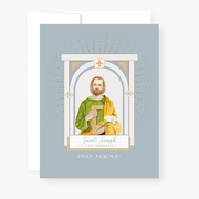 St. Joseph the Worker Novena Card Slate Blue