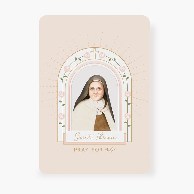 St. Therese Prayer Card | Beige