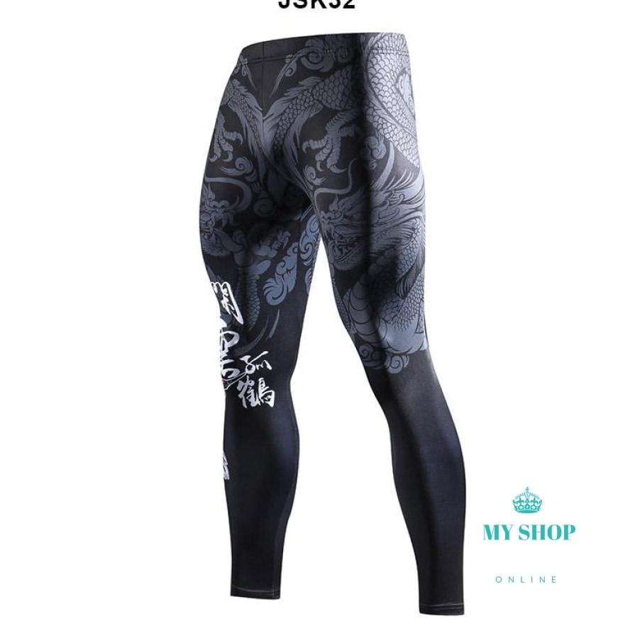 3D Prints Compression Pants Joggers Fitness Men's pants Hip hop Streetwear Men's Pants Homme Men's trousers - myshoponline.com