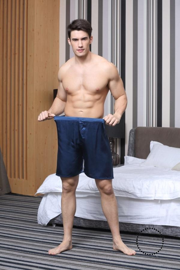 3PCS/Lot Men's Satin Silk Boxers Pajama Short Trousers Shorts Combo Pack Underwear Pajamas For Men Sleep Bottoms - myshoponline.com