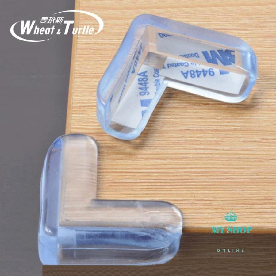 4Pcs Child Baby Safety Transparent Silicone Protector Table Corner - myshoponline.com