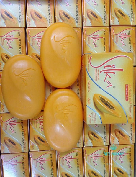 5pcs/lot Silka Skin Whitening Papaya Soap Lightening Herbal Body - myshoponline.com