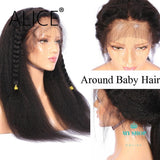 ALICE Kinky Straight Glueless Full Lace Human Hair Wigs - myshoponline.com