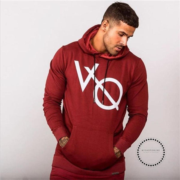 Autumn Winter Bodybuilding Hoodies Men Animal Gyms Sweatshirts Long Sleeve Cotton Sportwear Fitness Pullover - myshoponline.com