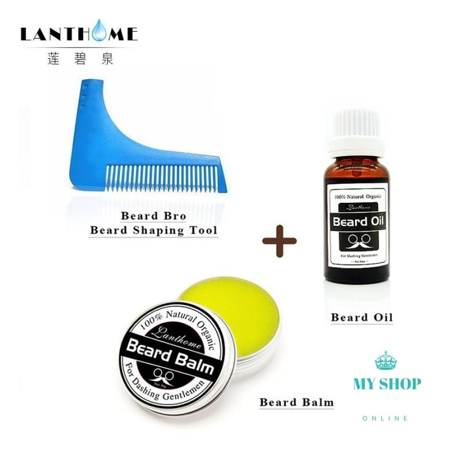 Beard Growth Oil Moustache Wax Balm Trimmer Comb bro beard shaping Moisturizing modeling tools for gentleman - myshoponline.com