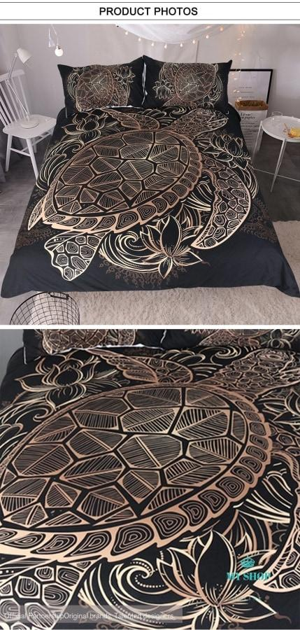 Bedding Set Duvet Animal Golden Tortoise - myshoponline.com