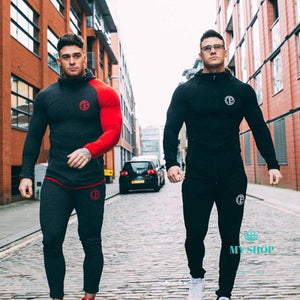 Bodybuilding Hoodies Men Set Sportwear Clothes Sweatshirt Hoodie+Pant Deporte