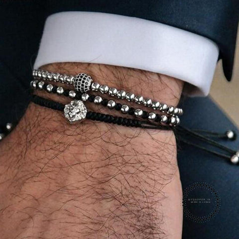 Bracelet Men Jewelry Bracelets Mens Copper Beads Pulseiras - myshoponline.com