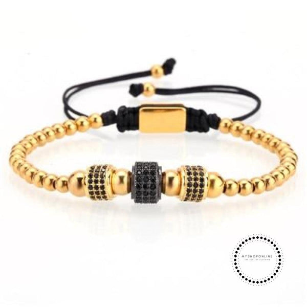 Bracelet men/natural stone/stainless steel beads charm bracelet dragon&ball cz zircon accessaries jewelry - myshoponline.com