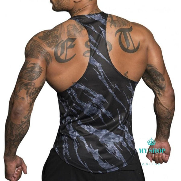 Camouflage Tank Tops Shirt Bodybuilding Equipment Fitness Men's Golds GymStringer - myshoponline.com