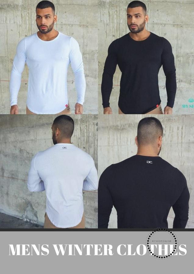 Casual t Shirt Crossfit Fitness Bodybuilding Muscle male Long sleeves Slim fit Shirts - myshoponline.com