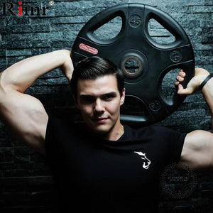 Clothing Gyms Tight T-shirt Mens Homme Gyms Fitness T Shirt Men Bodybuilding Crossfit Summer Male Top Tees - myshoponline.com