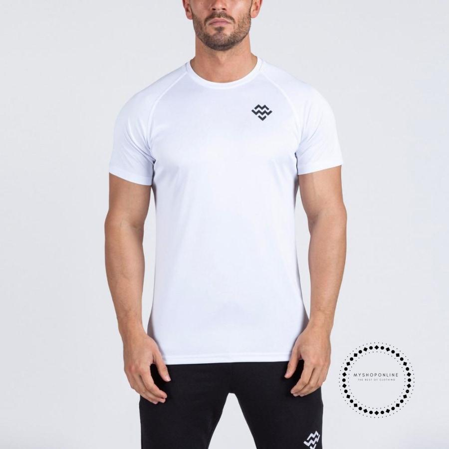 compression shirt Mens Short Sleeve T-shirt GymS Shirt Men Muscle Tights Gasp Fitness Quick Dry T Shirt tops - myshoponline.com