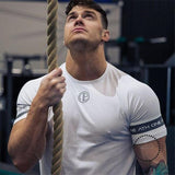 Cotton T Shirt Men Breathable T-Shirt Homme Gyms T shirt Men Fitness Summer Printing Gyms Tight Top - myshoponline.com