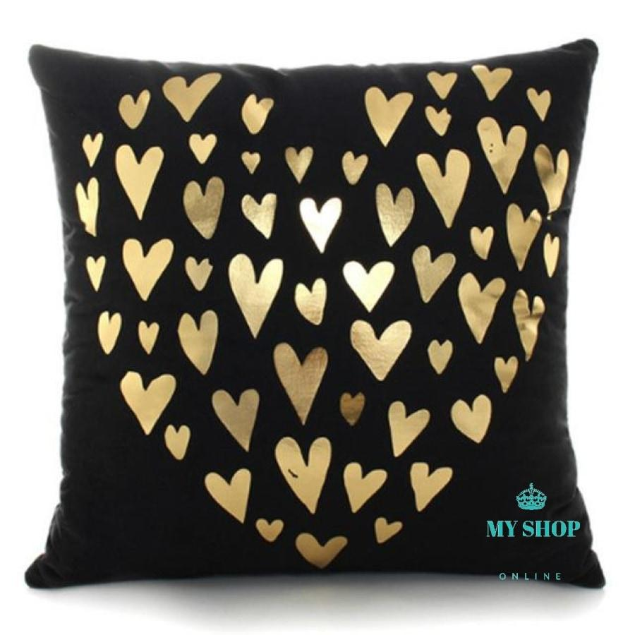 Decorative Pillow Case Sofa Golden - myshoponline.com