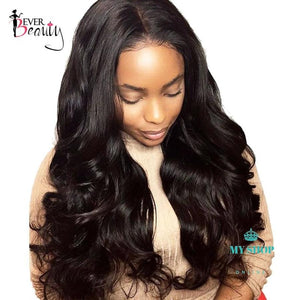 Density Lace Front Human Hair Wigs Body Wave Brazilian - myshoponline.com