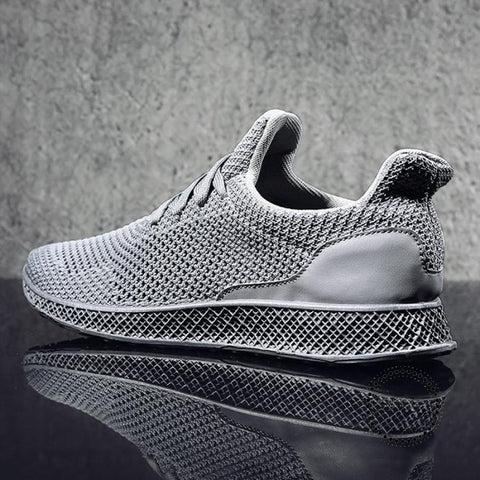 Designed Fly Weave Men's Casual Shoes Future Theory Male Breathable Lace Up Leisure Chaussure Shoes - myshoponline.com