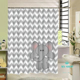 Elephant Printing Shower Curtain 3D Accesorios