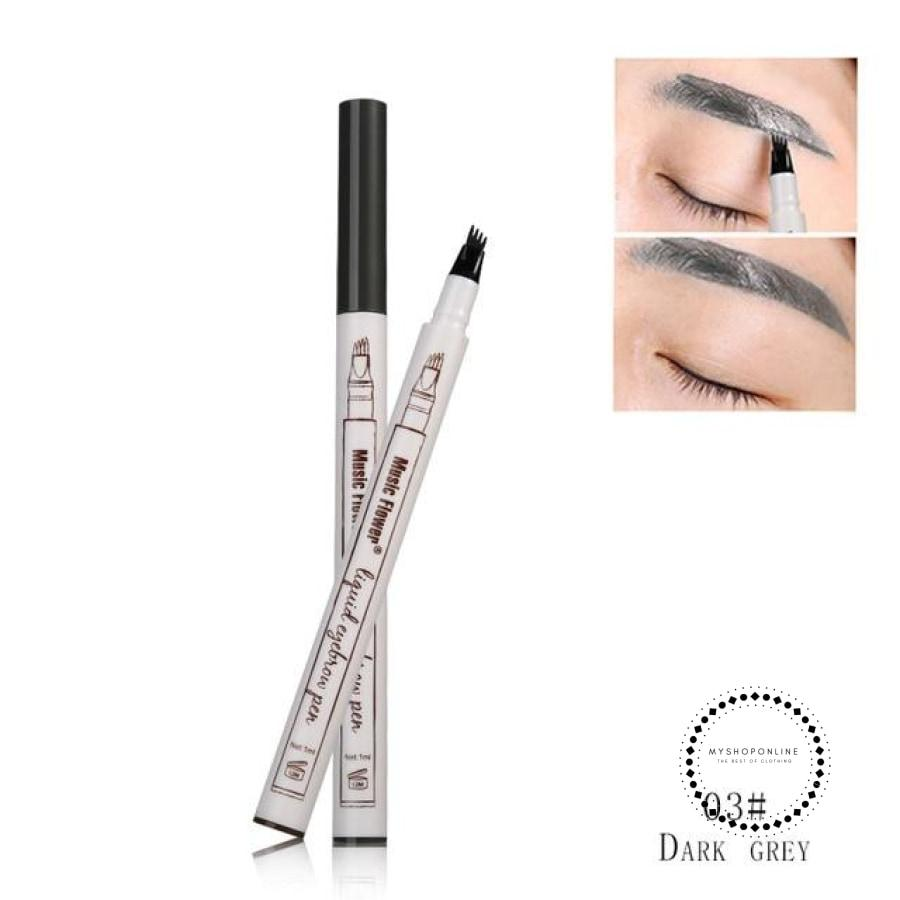 Eyebrow Pencil/ Eye Brow Tattoo Pen Waterproof 03 Dark Grey