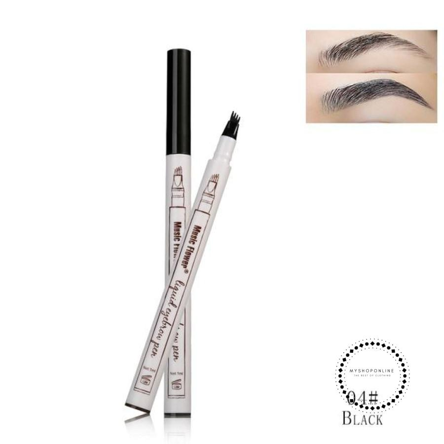 Eyebrow Pencil/ Eye Brow Tattoo Pen Waterproof 04 Black