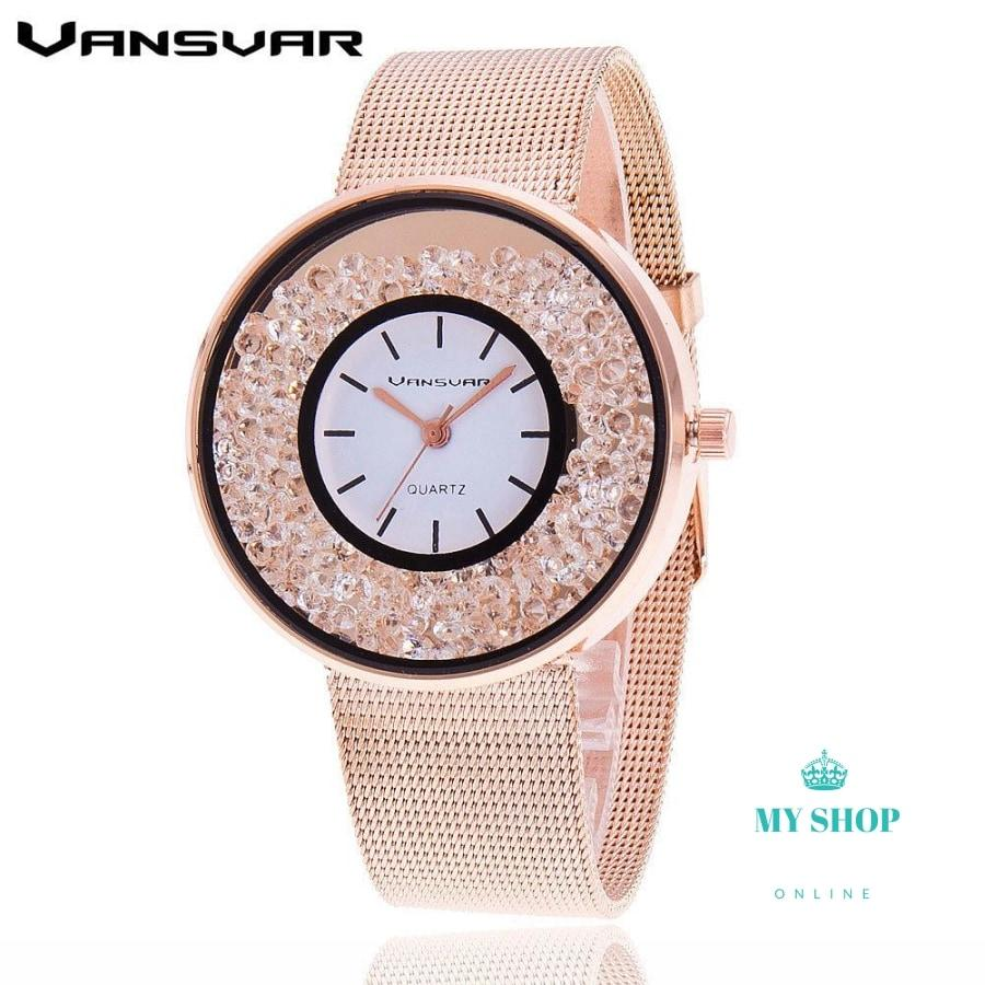 Fashion Stainless Steel Gold & Silver Band Quartz Watch Accesorios