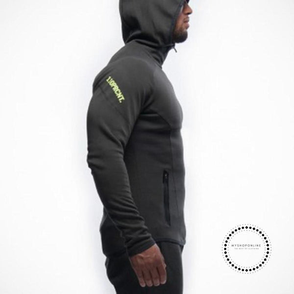 Fitness Men Hoodies Brand Clothing Hoody Zipper Casual Sweatshirt Muscle Mens Slim Fit Hooded