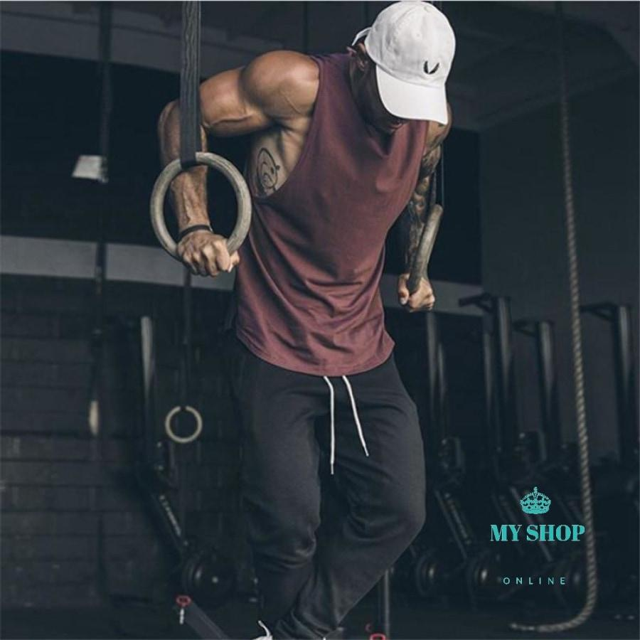 Gyms Clothing Bodybuilding Tank Top Men Fitness Singlet Sleeveless Shirt Cotton