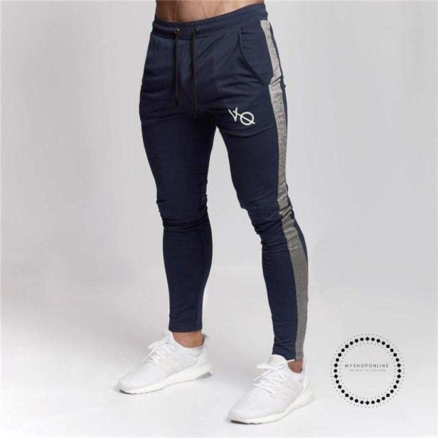 Gyms Mens Joggers Pants Fitness Casual Fashion Brand Sweatpants Bottom Snapback Men Blue Gray / M
