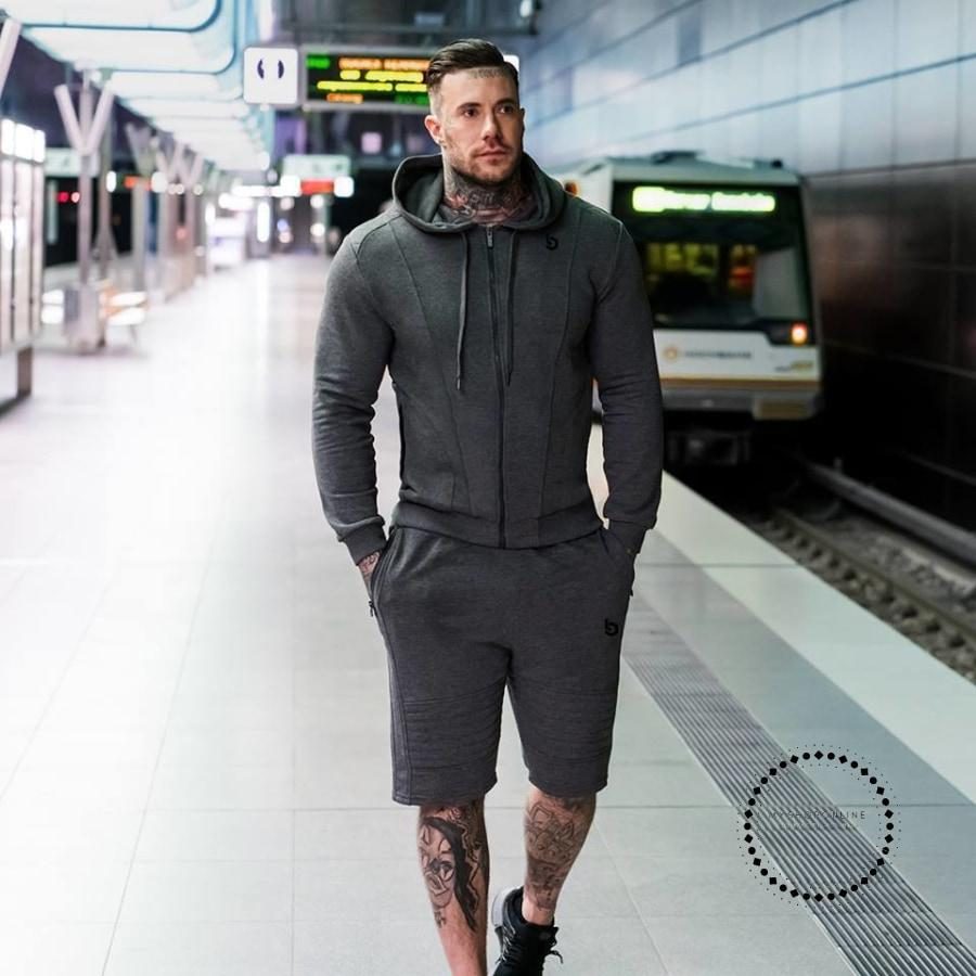Gyms New Tracksuit Men Pants Sets Fashion Sweatshirt Sweat Suits Brand Heren Kleding Casual Fitness