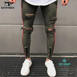 Jeans Mens Ripped Skinny Destroyed Frayed Slim Fit Casual Jean
