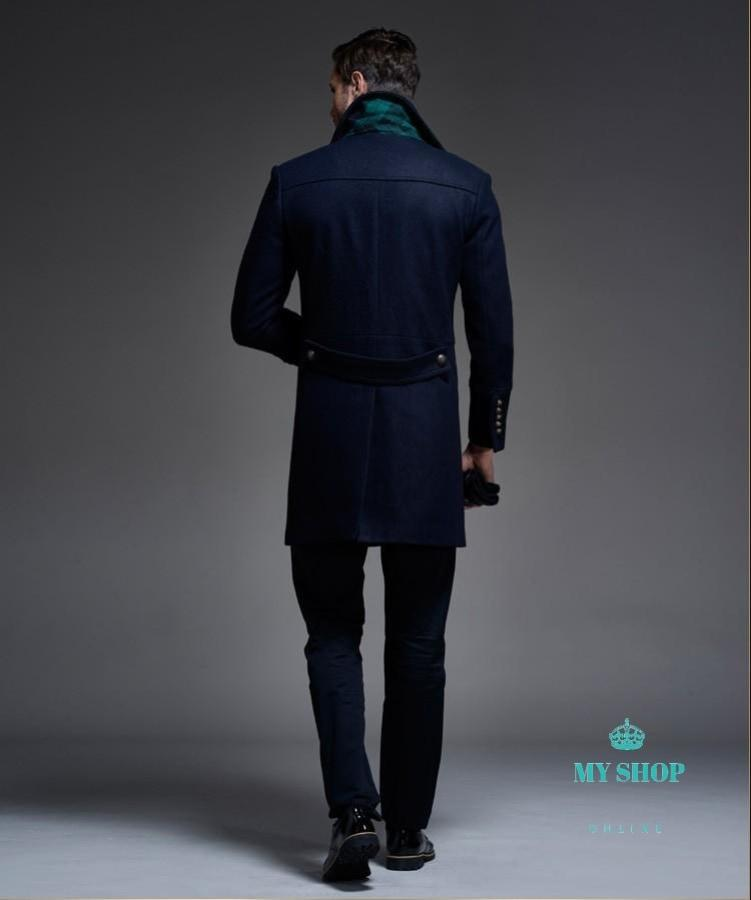 Long Trench Coat Wool Winter Mens Accesorios
