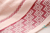 Luxury Greek Key Embroidered Face Towel 100% Cotton Accesorios