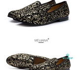 Luxury Men Shoes Black Loafers Leather Accesorios