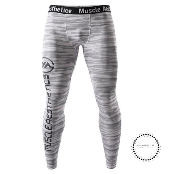 Men Compression Quick Dry Skinny Leggings Man Gyms Fitness Workout Bodybuilding Trousers Male