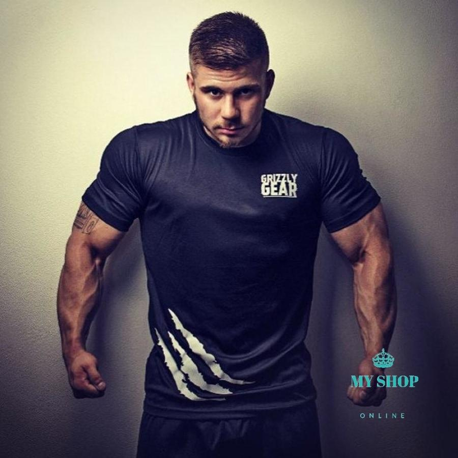 Men Cotton Print T-Shirt Summer Gyms Fitness Workout T Shirts Male Clothing Man Bodybuilding Slim