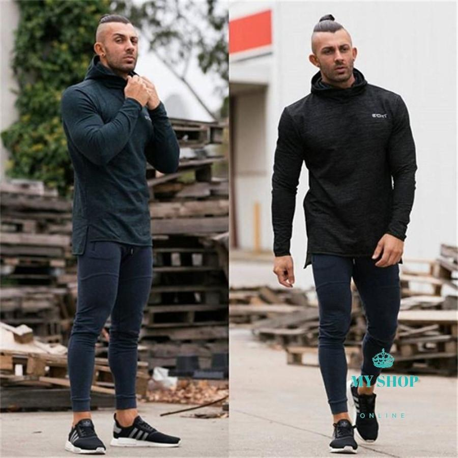 Men Fitness Sweatpants Male Gyms Bodybuilding Workout Cotton Trousers Casual Joggers Sportswear