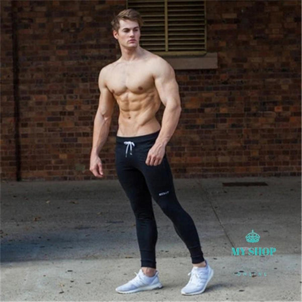 Men Fitness Sweatpants Male Gyms Bodybuilding Workout Cotton Trousers Fashion Trends