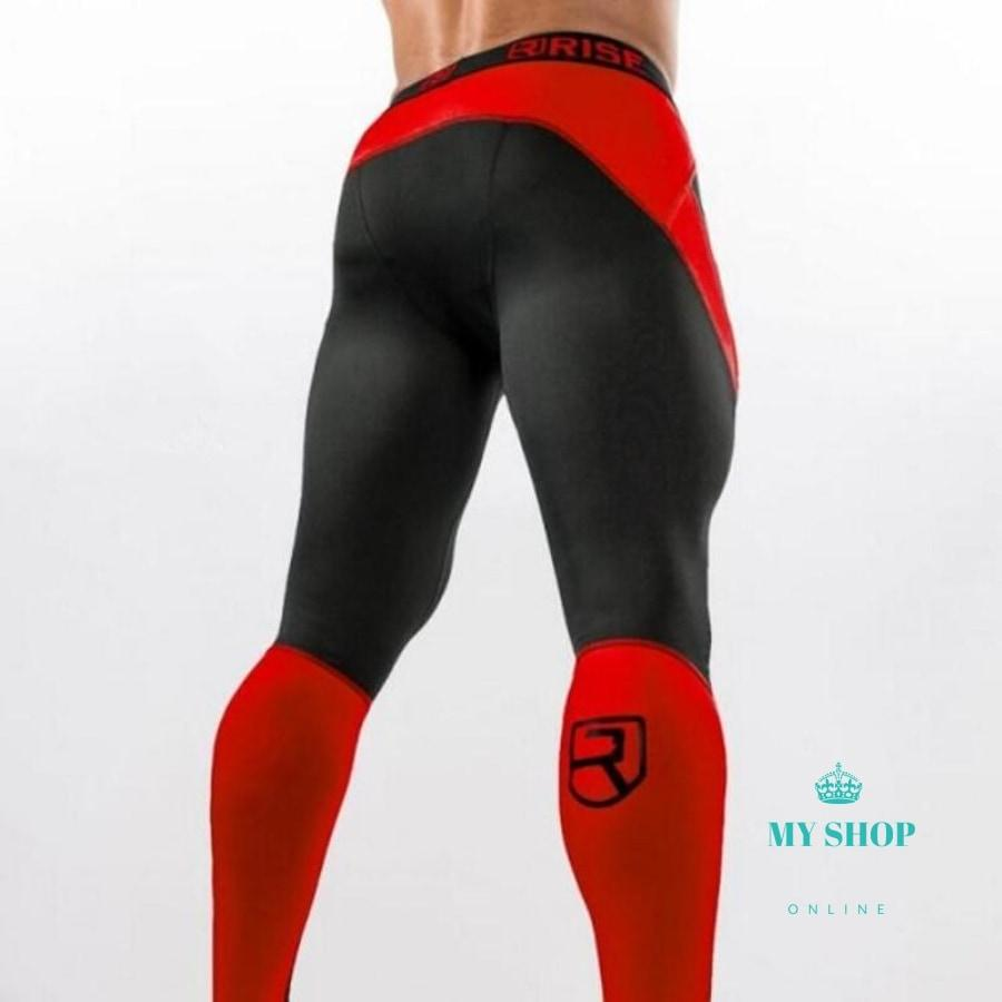 Men Sportswear Leggings Compressions Red / Xl Deporte
